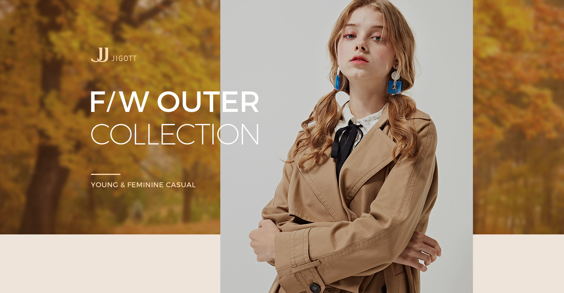 FW OUTER COLLECTION, YOUNG ,FEMININE, CASUAL,JJ jigott ,지고트,babafashion,baba,fashion,outer